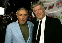 David Lynch and Dennis Hopper at the Brenden Theatres inside the Palms Casino Resort during the CineVegas film festival screening of