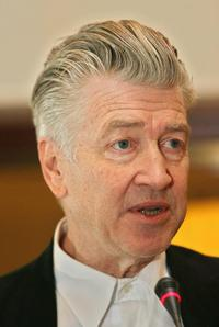 David Lynch at a press conference in Berlin to present projects of the David Lynch Foundation for Consciousness-based Education and World Peace.