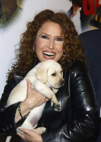 Melissa Manchester and her puppy at the Heroes and Heroines Gala Tribute to California Firefighters.