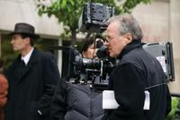 Director Michael Mann on the set of