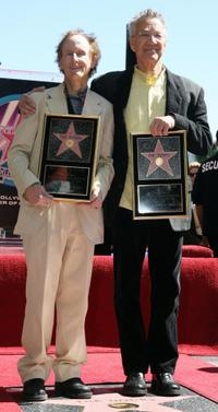 Robby Krieger and Ray Manzarek at the Hollywood Walk of Fame.