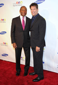 Branford Marsalis and Harry Connick Jr. at the Samsung Hope for Children gala in New York.