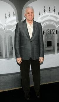 Steve Martin at the Giorgio Armani fashion show celebrating the Oscars.