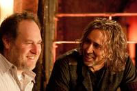 Director Jon Turteltaub and Nicolas Cage on the set of