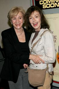 Elaine May and Olympia Dukakis at the New York premiere of