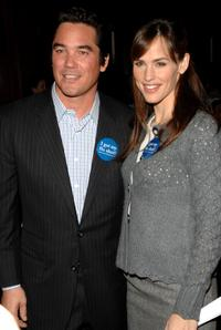 Dean Cain and Jennifer Garner at the National Influenza Initiative launch.