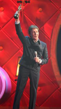 Paul McCartney at the Brit Awards 2008.