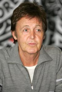 Paul McCartney at the promotion of his new DVD