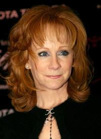 Reba McEntire at the press conference announcing the signing of