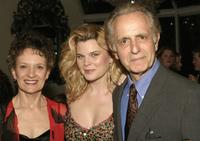 Phyllis Frelich, Heather Tom and Mark Medoff at the after party of the opening night of