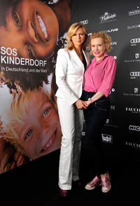 Veronica Ferres and Sunnyi Melles at the BURDA LIVE in Germany.