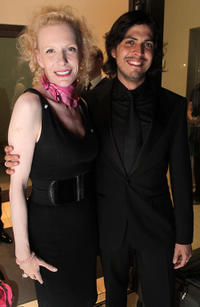 Sunnyi Melles and Spanish opera singer Joel Prieto at the Pakistan Benefit Concert in Austria.
