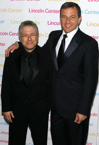 Alan Menken and President & CEO of the Walt Disney Company Robert A. Iger at the Lincoln Center's Annual Spring Gala.