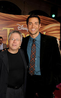 Alan Menken and Zachary Levi at the California premiere of