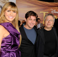Singer Grace Potter, lyricist Glenn Slater and Alan Menken at the California premiere of