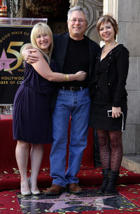 Janis, Alan Menken and Guest at the Walk of Fame star ceremony for Alan Menken.