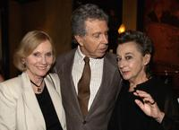 Eva Marie Saint, Jeffrey Hayden and Zoe Caldwell at a reception following the opening of