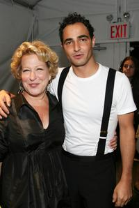 Bette Midler and Zac Posen at the Zac Posen 2008 Fashion Show.