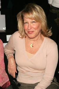 Bette Midler at the Zac Posen Fall 2005 show during the Olympus Fashion Week.