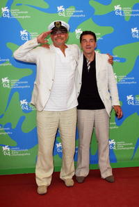 Nikita Mikhalkov and Sergei Makovetsky at the photocall of