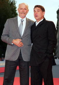 Nikita Mikhalkov and Sergei Makovetsky at the premiere of