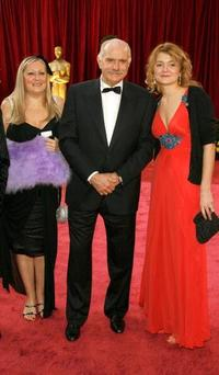 Nikita Mikhalkov, Nadezhda Mikhalkova and Guest at the 80th Annual Academy Awards.