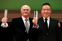 Nikita Mikhalkov and Chen Kaige at the 21st Tokyo International Film Festival.