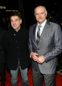 Sergey Markovetskyi and Nikita Mikhalkov at the Oscar Foreign Language Film Certificate of Nomination Presentation.