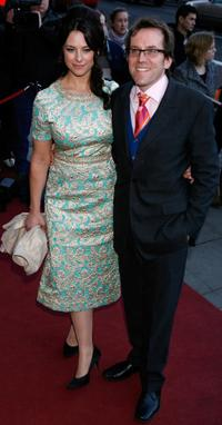 Ben Miller and guest at the Laurence Olivier Awards.