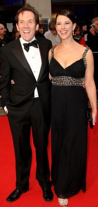 Ben Miller and guest at the British Academy Television Awards 2008.