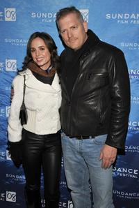 Eliza Dushku and Randall Miller at the premiere of