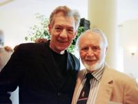 John Mills and Ian McKellen at the at the BAFTA-LA tea party.
