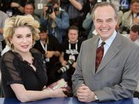 Catherine Deneuve and Frederic Mitterrand at the 58th International Cannes Film Festival.