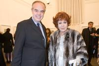 Frederic Mitterrand and Silvana Pampanini at the Rome Fashion Week Opening Dinner Gala and opening of Richard Avedons exhibition.