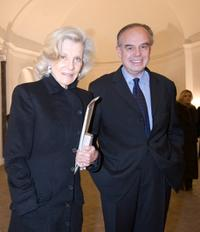 Marina Cicogna and Frederic Mitterrand at the Rome Fashion Week Opening Dinner Gala and opening of Richard Avedons exhibition.