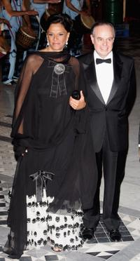 Betty Lagardere and Frederic Mitterrand at the Monte Carlo Rose Ball 2006.