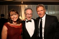 Karen Allen, Director Steven Spielberg and Harrison Ford at the