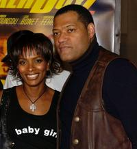 Vanessa Bell Calloway and Laurence Fishburne at the premiere of