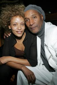 Stacie J and Paul Mooney at the premiere party of