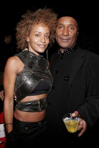 Stacy J and Paul Mooney at the Baby Phat Fall 2006 fashion show during the Olympus Fashion Week.