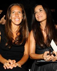 Demi Moore and Gabby Karan at the Donna Karan Collection 2008 Fashion Show during the Mercedes-Benz Fashion Week Spring 2008.