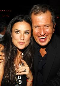 Demi Moore and Mario Testino at the Mercedes-Benz Fashion Week Spring 2008, attend the V Magazine Celebrates Mario Testino party.