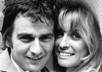 1968 portrait of famous British film actor Dudley Moore and Suzy Kendall.