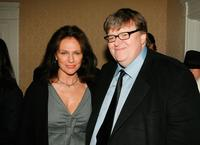 Michael Moore and Jacqueline Bissett at the AARP The Magazine's Seventh Annual Movies For Grownups Awards at the Hotel Bel Air.
