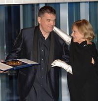 Jeanne Moreau and Martial Fougeron at the 54th San Sebastian Film Festival.