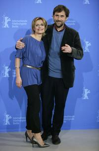 Isabella Ferrari and Nanni Moretti at the photocall of