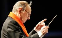 Ennio Morricone at the Piazza Duom's Christmas Concert.