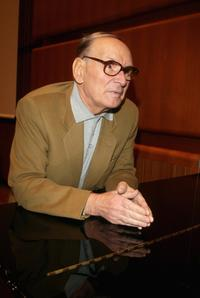 Ennio Morricone at the Press Conference of the 2nd Rome Film Festival.