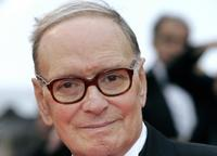 Ennio Morricone at the premiere of