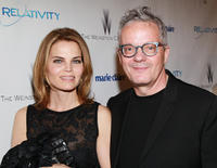 Anita and Mark Mothersbaugh at The Weinstein Company and Relativity Media's 2011 Golden Globe Awards party in California.